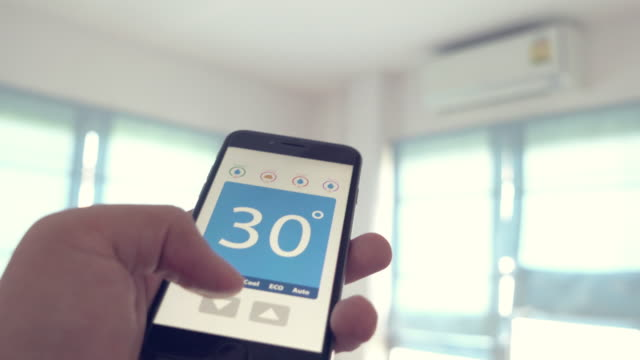 Home Automation and smart home technology - Adjusting temperature video