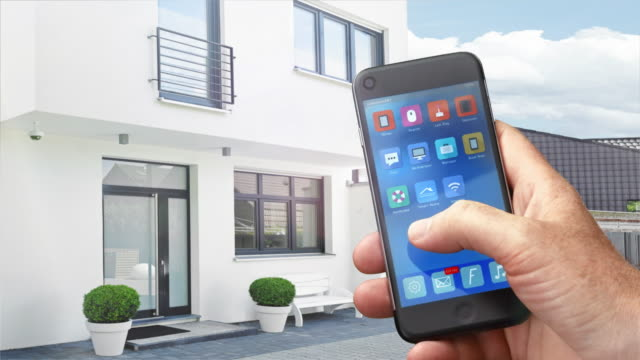 Home automation, smart home app on mobile Phone video