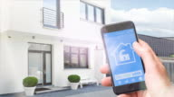 Home automation, smart home on mobile Phone video