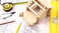 Home construction process. video