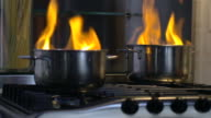 home disaster: food getting burnt in pot video