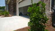 Home Garage Door Closes Angled Rising video