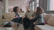 Home Healthcare Provider Visits Senior Couple WS video