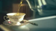 Home or office video background. Tea time. HD. video