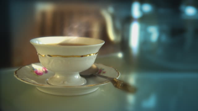 Home or office video background. Tea time loop. HD. video