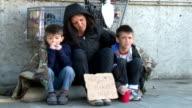Homeless Family Begs video