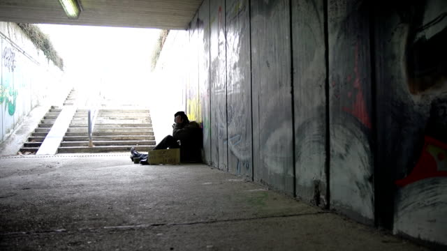 HD DOLLY: Homeless In The Underpass video