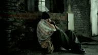 Homeless man. video
