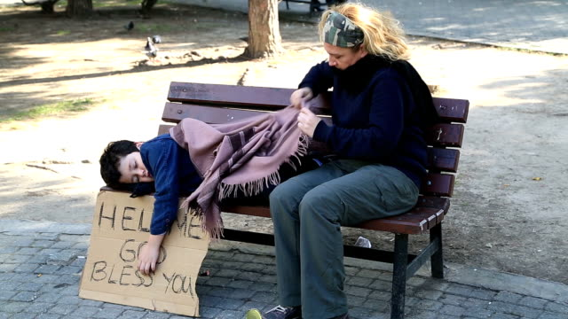 Homeless mother and son video
