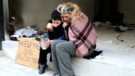 Homeless mother with her son video
