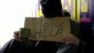 HD DOLLY: Homeless Person Begging For Help video