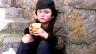 Homeless poor little boy video
