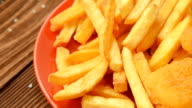 Homemade crunchy salty french fries video