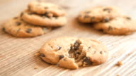 Homemade delicious cookies with chocolate and nuts video