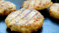 Homemade delicious patties for burgers video