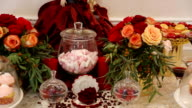 Homemade fancy set table with sweets candies video