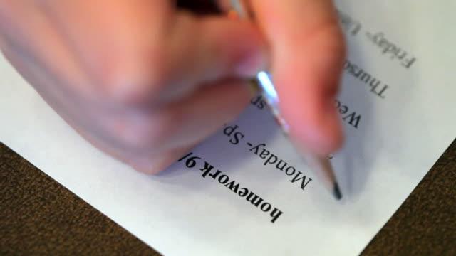 Homework Checklist video