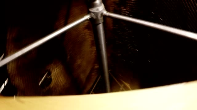 Honey Extractor Stops Spin Hand Pulls Out Frame For Honeycombs video