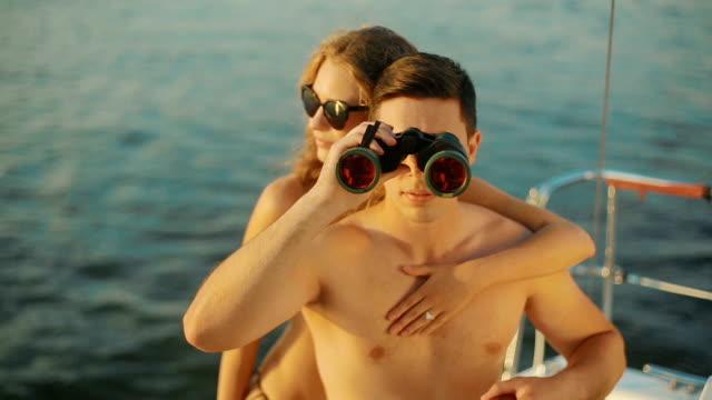 Honeymoon on the yacht. video