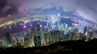 Hong Kong at night video