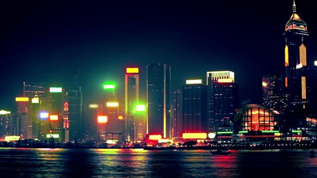 Hong Kong at night video