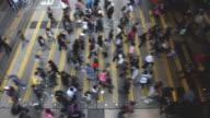 Hong Kong busy street crossing video