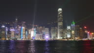 Hong Kong city at night video