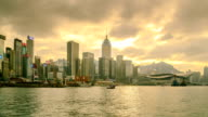 Hong Kong City Side View Island Zoom In video