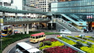 Hong Kong City Traffic Roundabout video