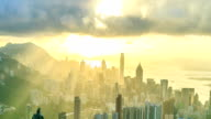 Hong Kong City With Sunbeam video