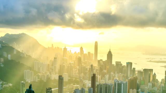 Hong Kong City With Sunbeam video