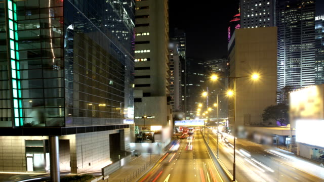 Hong Kong Cityscape Timelapse at Night video