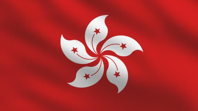 Hong Kong flag video