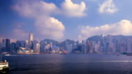 Hong Kong Harbour Time-lapse - daytime, with camera pan video