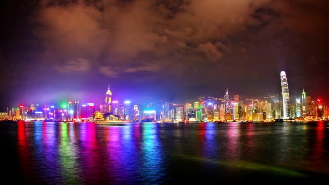 Hong Kong light show video