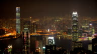 Hong Kong night. video