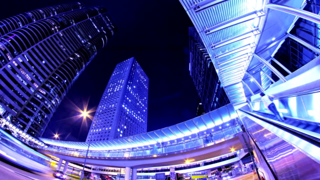 Hong Kong of China. Cit Night Timelapse. 4K Wide Shot. video