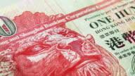 Hong Kong one hundred dollar bill video