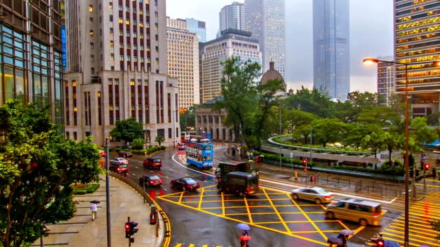 Hong Kong rain day video