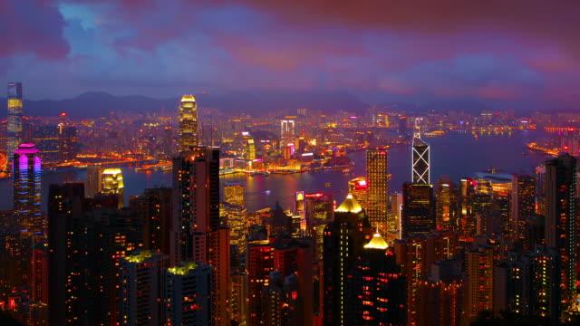 Hong Kong Skyline At Night video