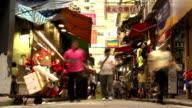 Hong Kong Street Market Timelapse video