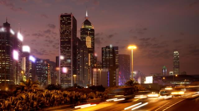 Hong Kong Sunset Cityscape Timelapse. video