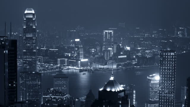 Hong kong timelapse of from Victoria peak video