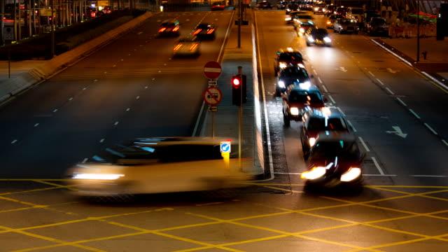 Hong Kong Traffic Night Timelapse video