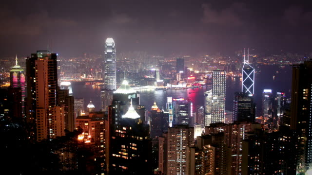 Hong Kong, Victoria Peak (Night) video