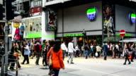 Hong Kong,China-Nov 13,2014: The pedestrians in the downtown of Hong Kong,China video