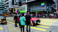 Hong Kong,China-Nov 13,2014: The traffic and pedestrians in the downtown of Hong Kong, China video