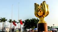 Hong Kong,China-Nov 17,2014: The flag-raising ceremony is held on the Bauhinia square, Hong Kong,China video