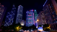 Hong Kong's Admiralty night time-lapse video