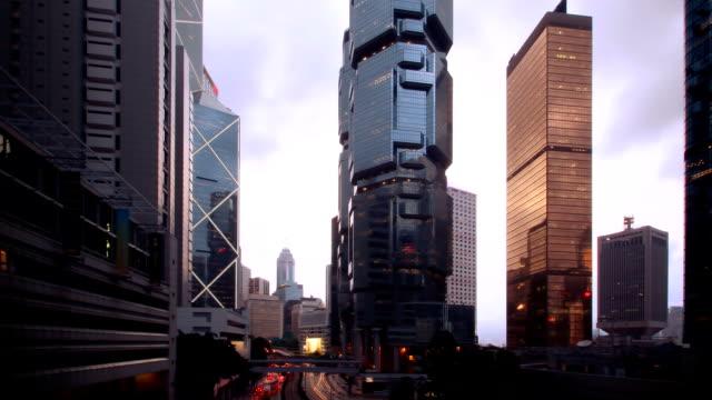 Hong Kong's Admiralty time-lapse, tilt movement video